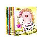 GonFan Los Libros para niños Inglés Total de 10 Libros 0-6 bebé de los años Inglés Ilustración Historia Libro de imágenes for los niños (Color : Multi-Colored, Size : 18x18x9cm)
