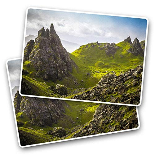 Awesome Rectangle Stickers(Set of 2) 7.5cm - Isle of Skye Scotland Landscape Fun Decals for Laptops,Tablets,Luggage,Scrap Booking,Fridges,Cool Gift #45413