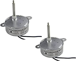 CHANCS TYC40 Small Synchronous Motor 12V 5RPM AC Shaft 35mm for Chirtmas Decoration (2PCS)