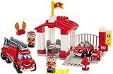 Jouets Ecoiffier -3014 - Caserne de pompiers Abrick – Jeu de construction pour...