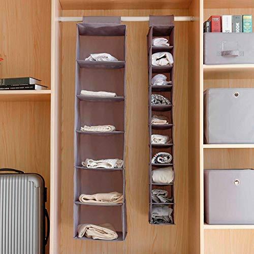 Blusea — Organizador de prateleiras para pendurar armário de tecido Oxford, dobrável, acessórios para sapatos, 6 camadas/10 camadas