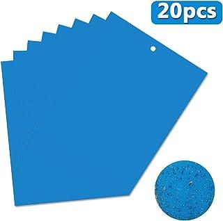 OMZGXGOD 20 Pcs Trampas de Insectos de Doble Cara, Papeles Pegajosos Azul Trampas de Moscas, para...