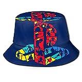 Funky Playstation Logo ユニセックスフィッシャーマンキャップ折り畳み式の夏の旅行バケットハット