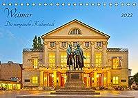 Weimar Die europaeische Kulturstadt (Tischkalender 2022 DIN A5 quer): Eine wunderschoene Stadt mit einem grossen kulturellen Erbe (Monatskalender, 14 Seiten )