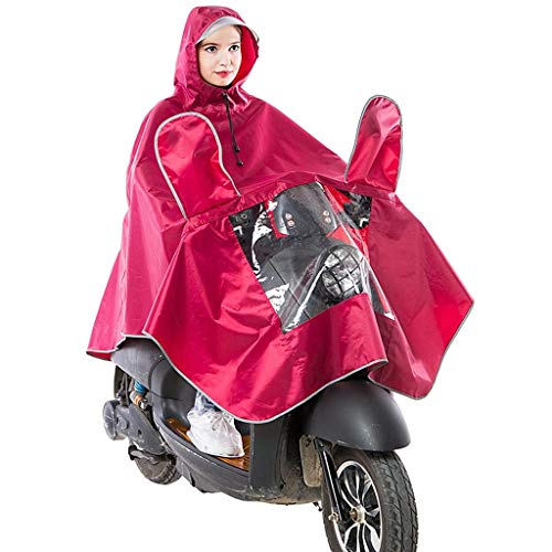 LULUDP Chubasqueros Impermeable, motocicleta y automóvil eléctrico, ropa impermeable, adulto suelta, de gran tamaño, transparente, grande, traje de lluvia, gorra, aleros, hombres gruesos y mujeres Tra