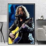 Amrzxz Puzzle de 1000 Piezas de Madera『Popular Cantante Masculino-Chris Cornell』Juego de Rompecabezas para Relajarse