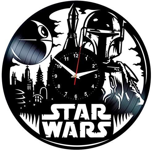 EVEVO Star Wars Wanduhr Vinyl Schallplatte Retro-Uhr Handgefertigt Vintage-Geschenk Style Raum Home Dekorationen Tolles Geschenk Wanduhr Star Wars