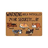 MyPhotoPrint Personalized Door Mat 24'x16' Warning Dog Lover 1-5 Dogs...