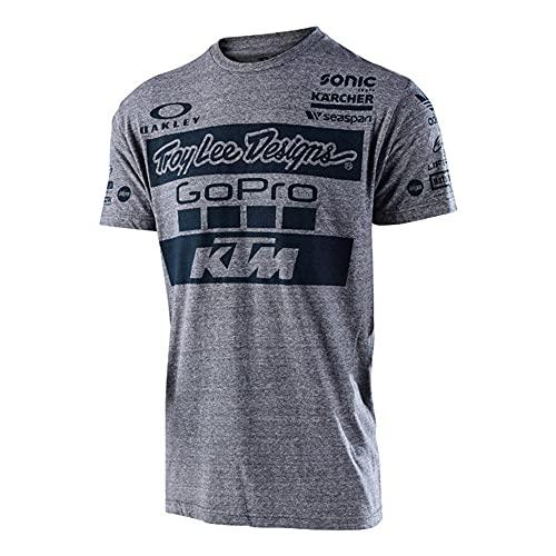 MONA@FILTER Hombres Equipo Camiseta Motocross Quick-Secking Casual Camiseta Casual Ropa deportiva,Gris,XL