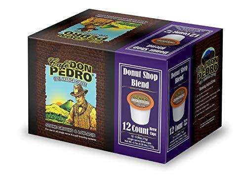Cafe Don Pedro - 72 ct. Donut Shop Blend Low Acid Coffee 72 Ct. - Compatible with Keurig 2.0 K-cup Brewers , 100% Arabica , Single Serve , Battles Heartburn Acidic Reflux, Healthy Gourmet Capsule Pod