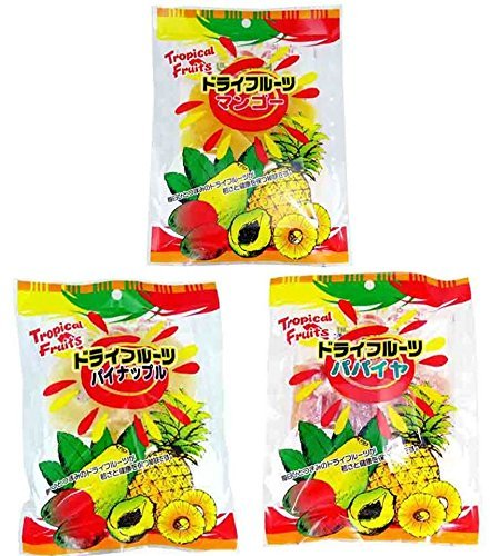 ドライフルーツ 3種セット(マンゴー80g・パイナップル150g・パパイヤ150g) 各1袋 豊物産 食物繊維やミネラル豊富なドライフルーツ ヨーグルトやシリアルに