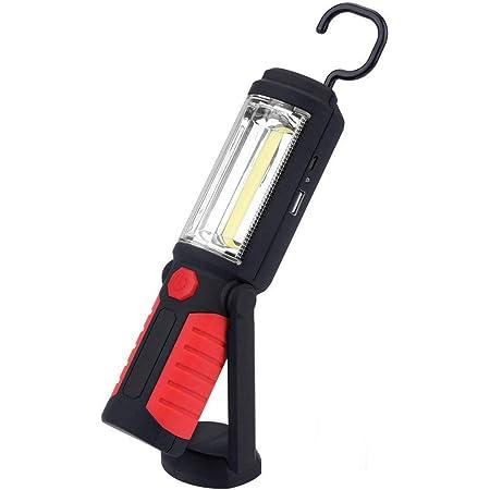 Arbeitsleuchte Cob Led Taschenlampe Portable Freisprechlösung Magnet Notfall Arbeitsleuchten Led Arbeitslampe 650 Lumen 3w Power Usb Ladekabel Inklusive Batterie Rot Beleuchtung