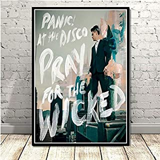 CHQUS Poster Brendon Urie Panic at The Disco Pop Star Music Wall Art Painting Canvas Wall Picture Room Home Decoration no Frame 40x60cm