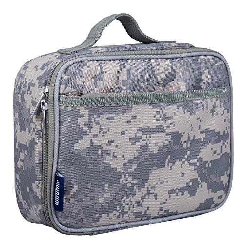 Wildkin Kids Insulated Lunch Box Bag for Boys and Girls, Perfect Size for Packing Hot or Cold Snacks for School & Travel, Measures 9.75x7x3.25 Inches, Mom's Choice Award Winner,BPA-free(Digital Camo)