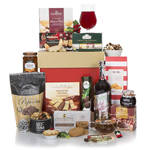Gourmet Christmas Hamper - Non Alcoholic Xmas Gift Hampers for Him Or for Her…