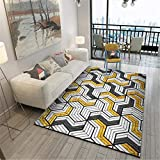 WJTHH Alfombra moderna tradicional lavable alfombra 3D efecto metal pesado tacto 3D alfombra durable alfombra cocina alfombra 80 x 160 cm