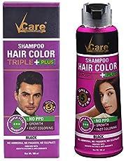 Vcare hair color shampoo deep brown 180ml +eva lipcare free …