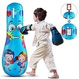 Petyoung Sacco da Boxe Gonfiabile per Il Tipo 47 Giocattolo da Boxe Autoportante per Bambini Sacco da Boxe per Ragazzi E Ragazze Esercizio Antistress