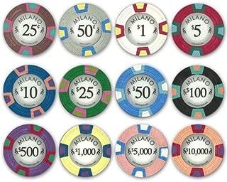 Milano Full Clay 10gm 500 Bulk Poker Chips - Choose Your Chips!