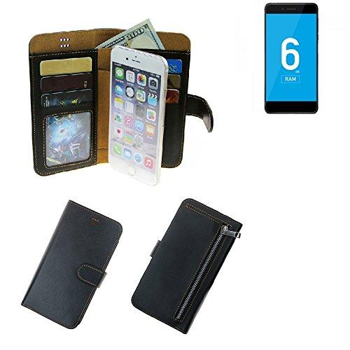 K-S-Trade Schutzhüll Für Vernee Mars Pro 4G Schutz Hülle Portemonnaie Hülle Phone Cover Slim Klapphülle Handytasche E Handyhülle Schwarz Aus Kunstleder (1 STK)