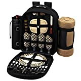 LIFETIME WARRANTY from PICNIC at ASCOT USA - Designers and Manufacturers for over 25 years of a Wide Range of High Quality Picnic Baskets, Coolers, Wine Carriers & Life Style Products ASSEMBLED IN THE USA TOP QUALITY - fully equipped insulated picnic...