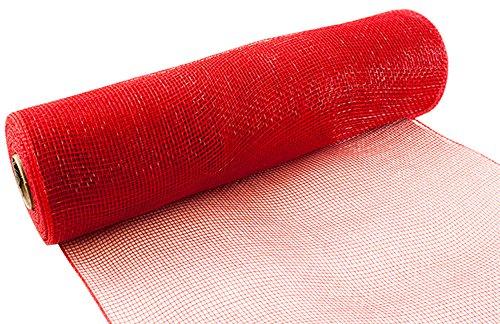 Eleganza Nr. 16Deco Mesh, rot, 25cm x 9,1m