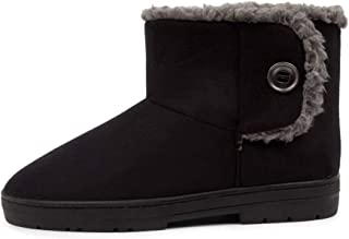SCHOLL Fluffy Brown Fabric Womens Shoes Flat Ankle Boots
