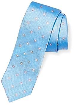 Amazon Brand - Buttoned Down Men s Classic Silk 3  Necktie light blue/orange flowers Regular