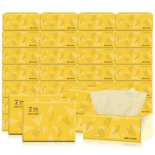Kosmetiktücher 3-lagig Papiertaschentücher-Boxen 40er Pack (40 x 270 Tücher) Papiertücher Taschentücher Küchentücher aus 100% Bambus, Angenehm Weich Sicher und Saugfähig Celucke