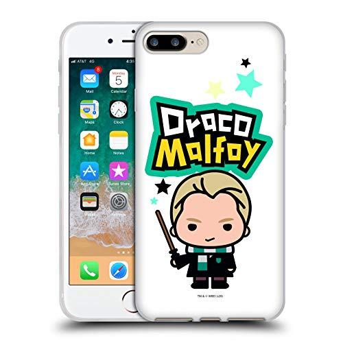 Head Case Designs Oficial Harry Potter Draco Malfoy Deathly Hallows XXVIII Carcasa de Gel de Silicona Compatible con Apple iPhone 7 Plus/iPhone 8 Plus