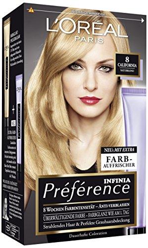 L'Oréal Paris Préférence Coloration Naturblond 8, 3er Pack (3 x 1 Colorationsset)