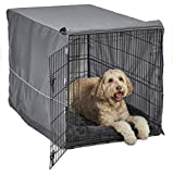 New World Double Door Dog Crate Kit | Dog Crate Kit Includes One Two-Door Dog Crate, Matching Gray Dog Bed & Gray Dog Crate Cover, 48-Inch Kit Ideal for X-Large Dog Breeds