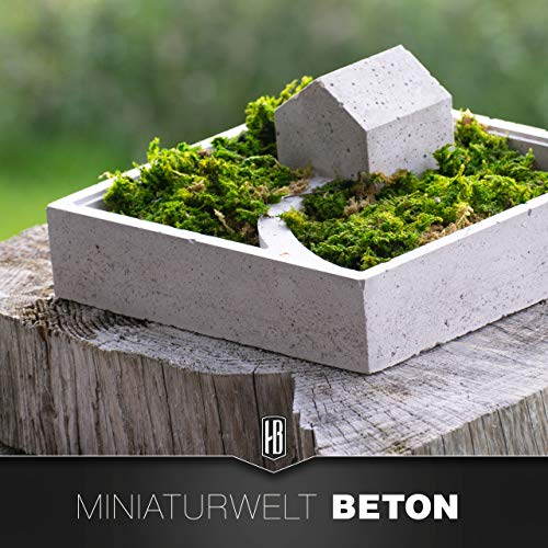 Handgefertigte Miniaturwelt aus Beton