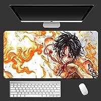 ワンピースラージ900x400mmオフィスマウスパッドマットゲームゲーマーゲーミングマウスパッドキーボードコンピューティングアニメデスククッションタブレットPCノートブックかわいい-A_900x400x3mm