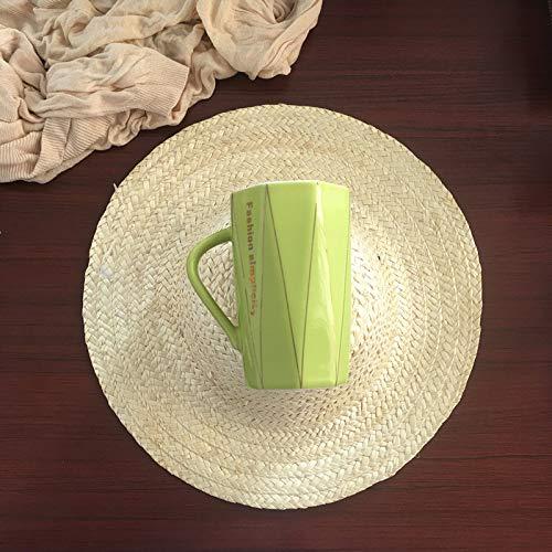 Xiaobing Cuchara de cerámica Simple y Creativa con Tapa línea de Diamante Taza de café Oficina hogar Taza -C355-301-400ml