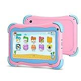 YUNTAB 7 Pulgadas Kids Tablet PC Q91 Juego y Aprendizaje Android 8.1 A50 1.5GHz Quad Core WiFi Doble cámara 3D Juego con Estuche para Tableta (Pink)