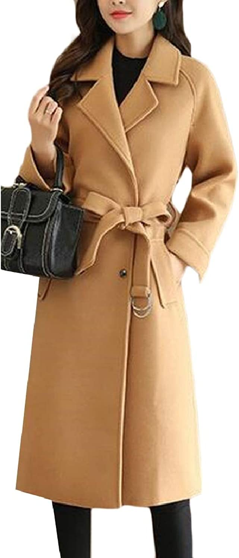 Xswsy XGCA Women Winter Classic Overcoat Wool Blend Pea Coat Trench Coat