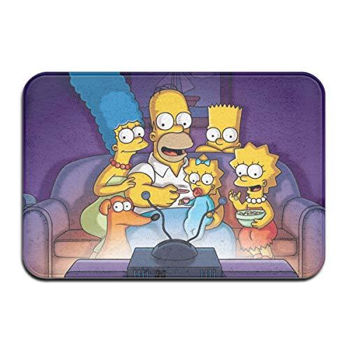 Felpudos HAOHAODE Simpsons - Felpudos antideslizantes para puerta de casa, 40 x 60 cm