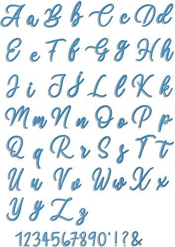 Crafting Dies Troquel de letras grandes con diseño de letras de alfabeto cursivo y minúsculo, letras metálicas y letras, para Scrapbooking Lollipop Shadow cursiva Script Upper & Lower