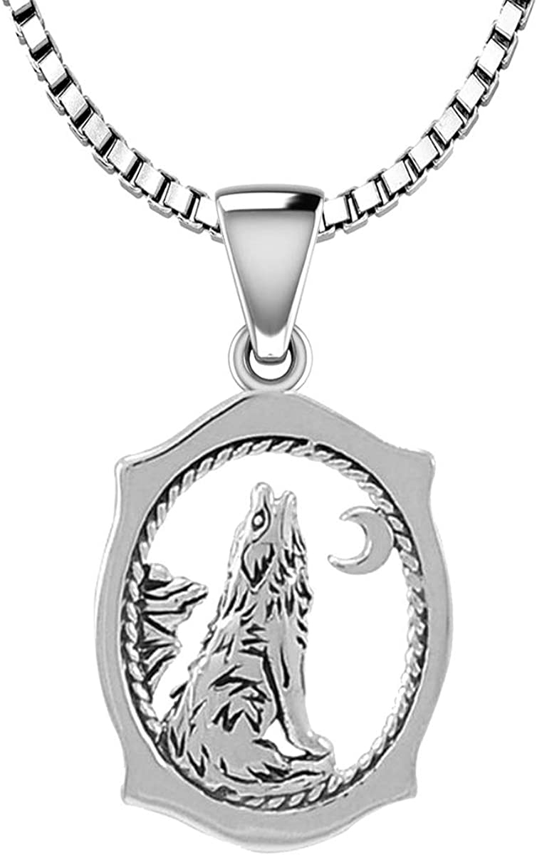 US Jewels and Gems 925 Sterling Animal Silver Penda Limited time sale Howling 2021 spring and summer new Wolf
