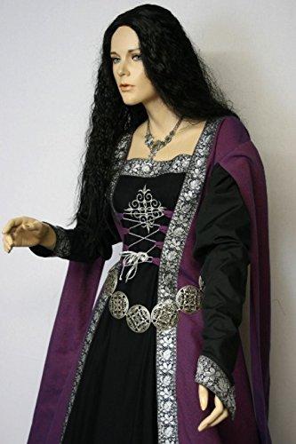 Dark Dreams Gothic Mittelalter LARP Gewandgürtel Fleur altmessing, Länge:130 cm - 5