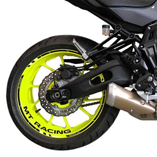 FELGENRANDAUFKLEBER passend für Yamaha MT-07 Moto GP Style Felgenaufkleber (Motiv 3V)