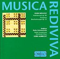 Wellesz - Violin Concerto; Prosperos Beschworungen by Egon Wellesz (1998-10-12)