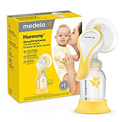Medela Harmony in front of product box on a white background