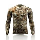 KERVINFENDRIYUN YY4 Herren Compression Baselayer Langarm Camo Quick Dry Tops Shirts -