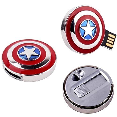 Pen Drive 32gb Escudo Capitão América Avengers Vingadores