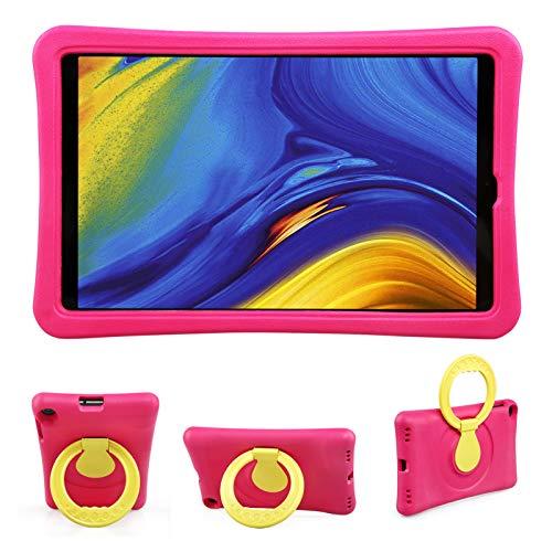 BelleStyle Niños Funda para Samsung Galaxy Tab A 10.1 2019 SM-T510 SM-T515, A Prueba de Choques Ligero Estuche Protector Giratorio Manija Caso Soporte para Galaxy Tab A 10.1 Pulgadas 2019 (Rosa)