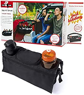 Sip 'N Stroll: That Girl Gifts Baby Stroller Organizer – 2 Bottle Holders - Black