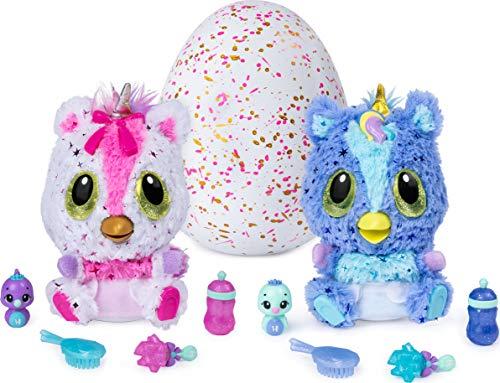 Hatchimals 6046468 HatchiBabies Unikeet, Uovo con Baby - Hatchimal e accessori interattivi