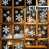 Sinwind 162 pegatinas navidad para ventanas, decoracion de navidad pegatinas ventana navidad adornos de navidad para escaparates de la Ventana Extraíble PVC Pegatinas Electrostáticas